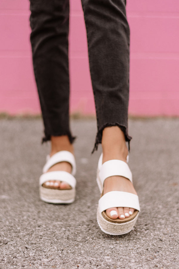 The Laurel Espadrille In White