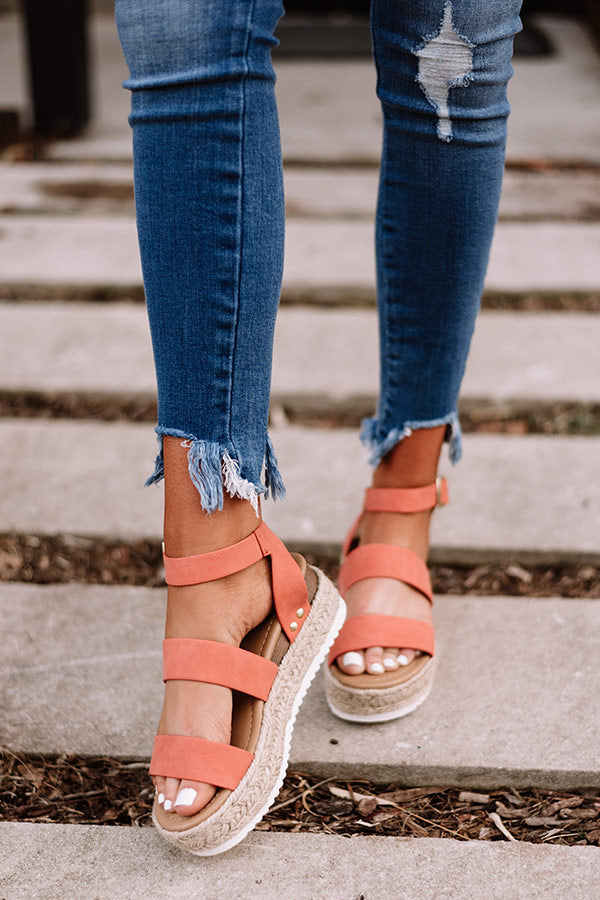 The Lela Espadrille In Coral