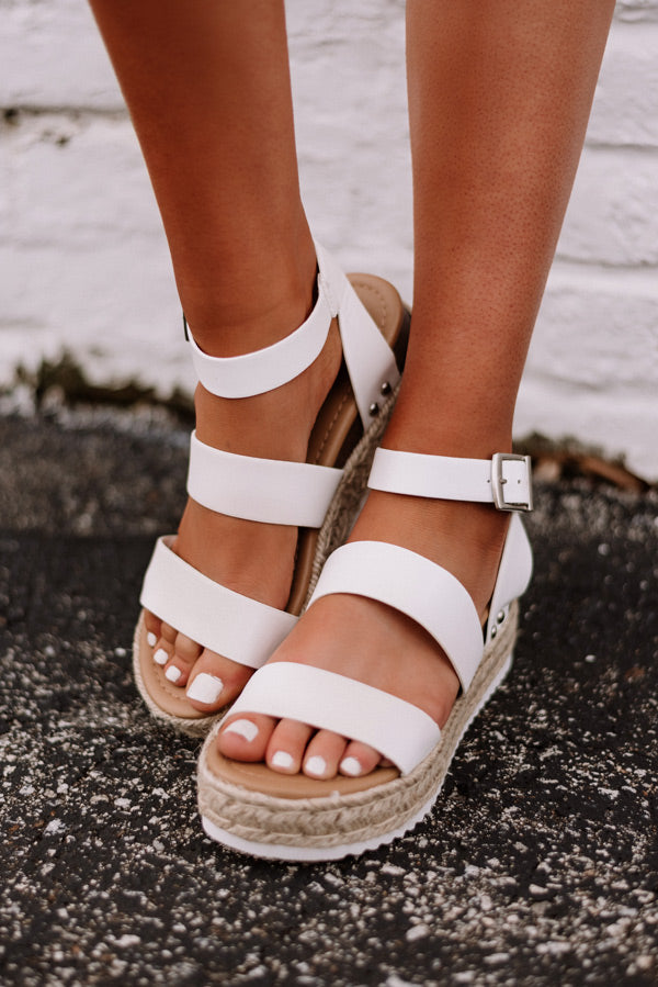 The Lela Espadrille In White