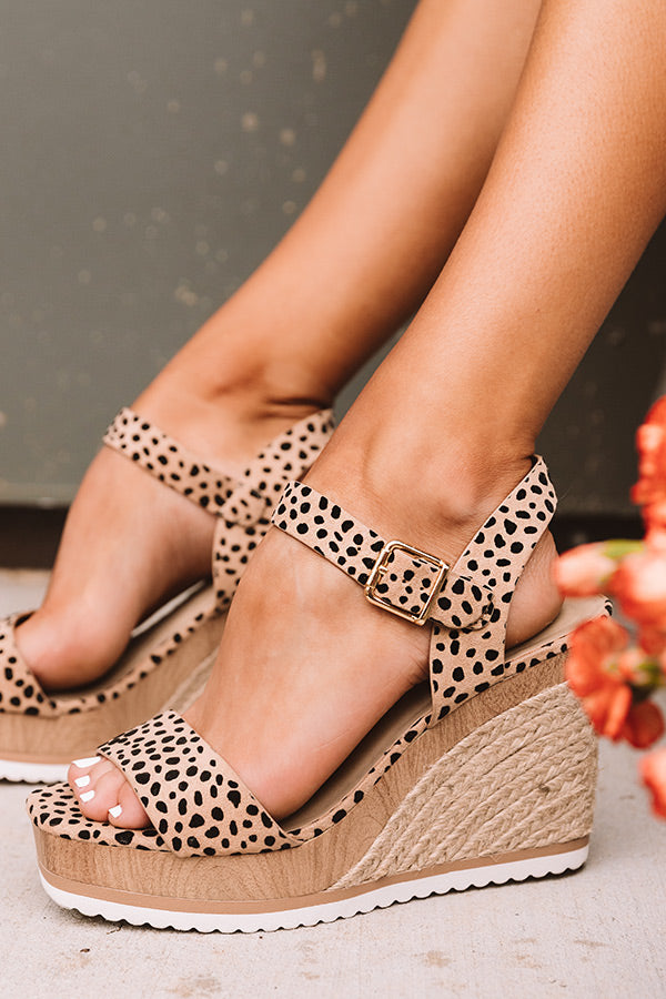 The Allen Wedge In Cheetah Print