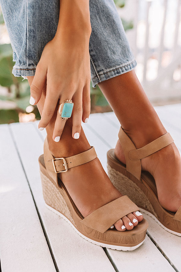 The Allen Wedge In Tan