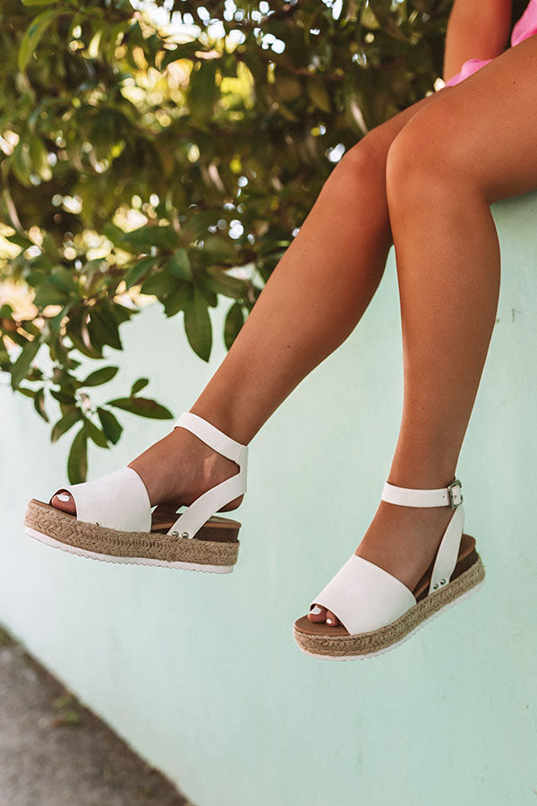 The Brighton Espadrille In Ivory