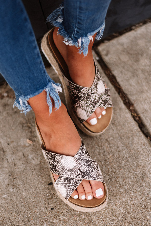 The Emmy Espadrille In Snake Print