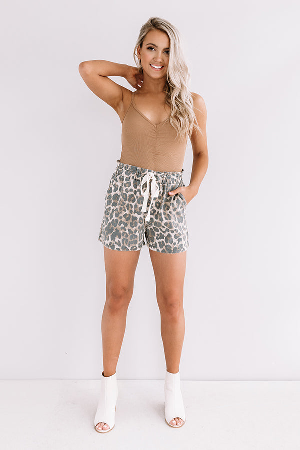 In The Spirit Leopard Shorts