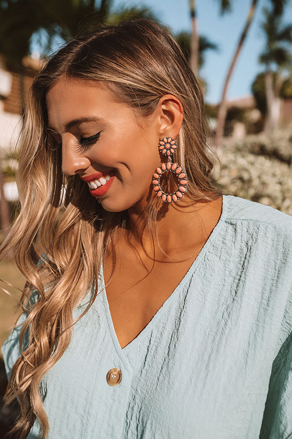 Hamptons Hideout Earrings in Peach