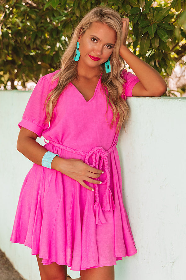 Dreaming In Destin Dress in Hot Pink