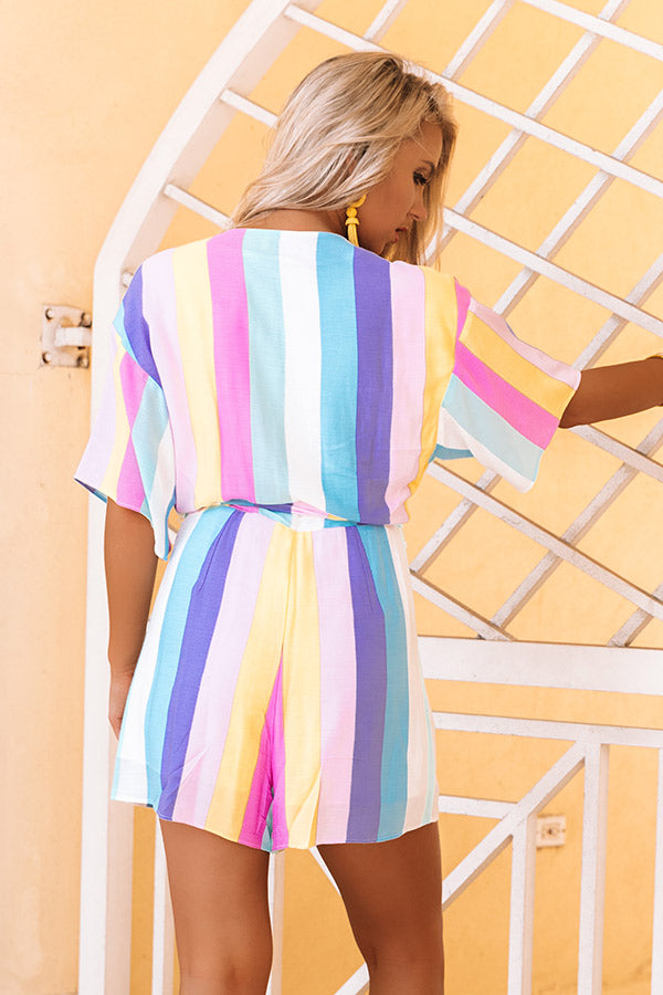 Season Of Sunshine Stripe Romper