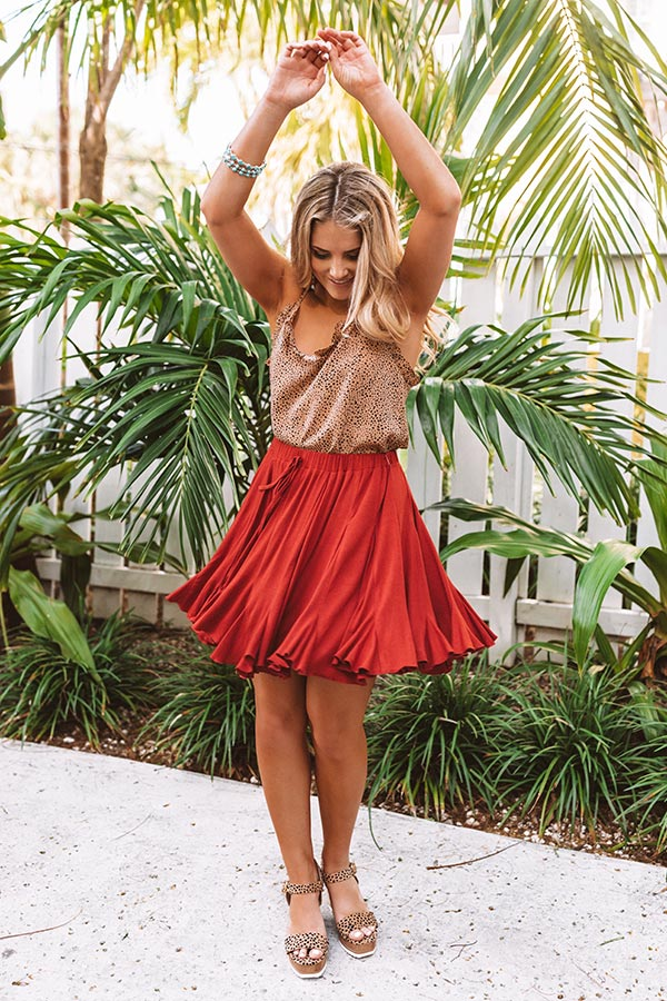 Made To Dance Skirt in Rust