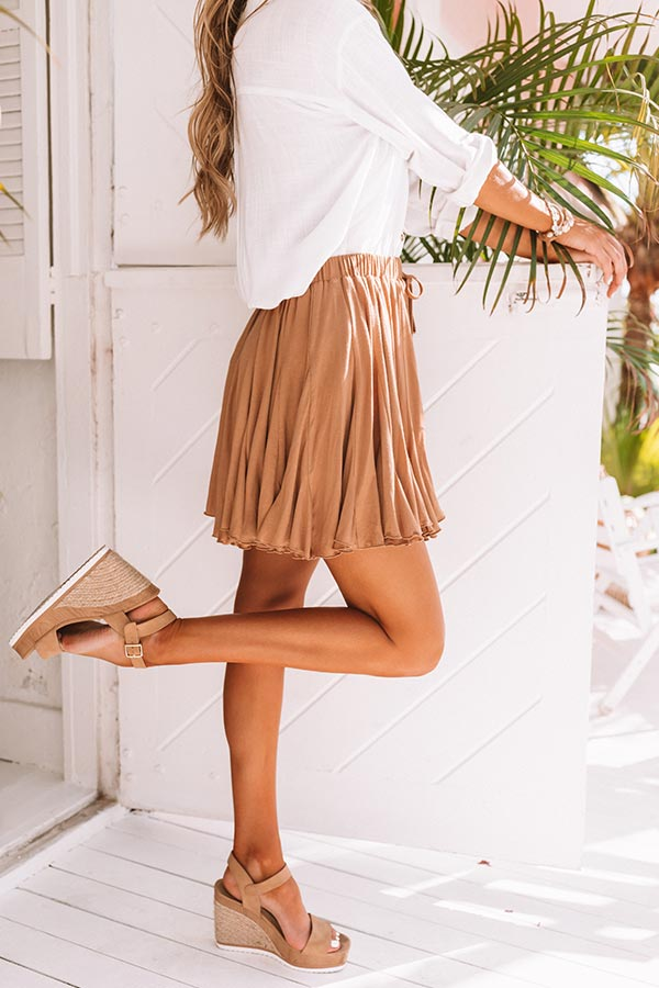 Made To Dance Skirt in Iced Mocha