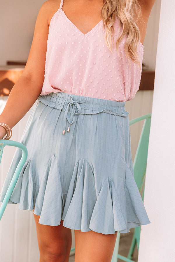 Headed For Happy Hour Skort In Pear