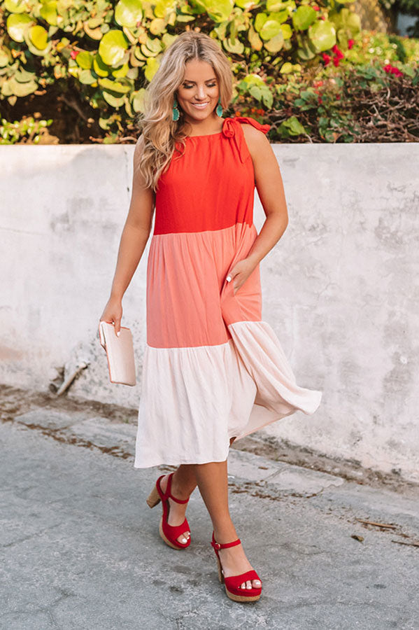 Prosecco Poolside Colorblock Midi