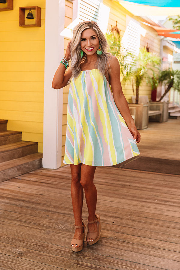 Mai Tai Kisses Shift Dress in Seaglass