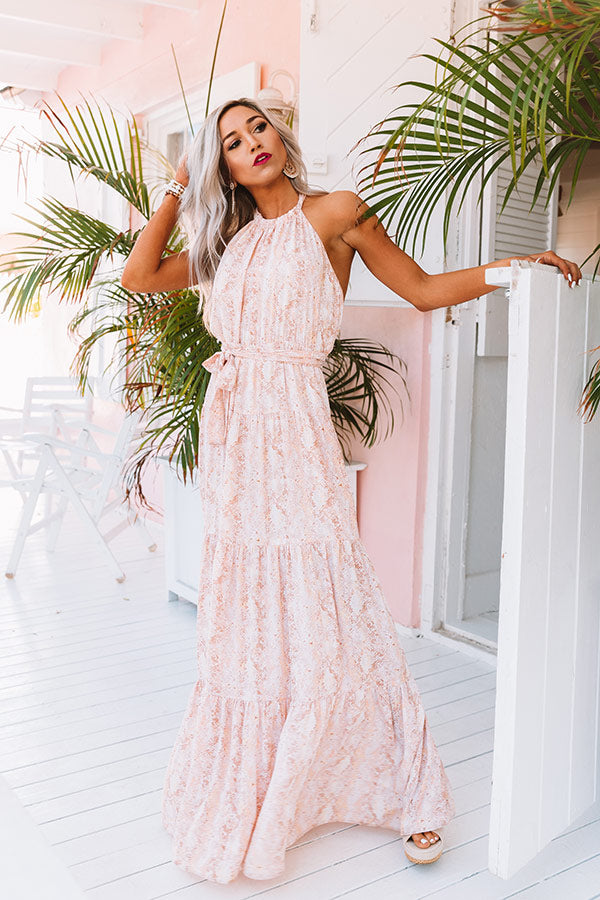 Paradise Passion Halter Maxi Dress