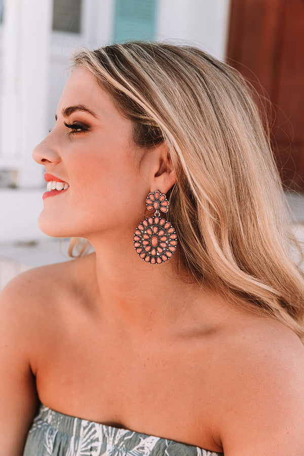 Southern Sweetheart Earrings In Peach