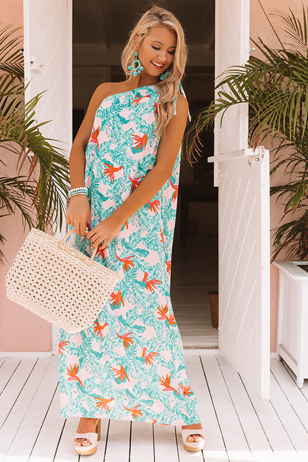 Tropic Occasion One Shoulder Maxi Dress