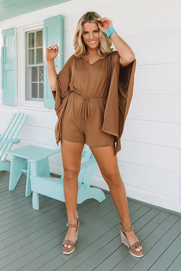 Cute As Can Be Romper In Mocha