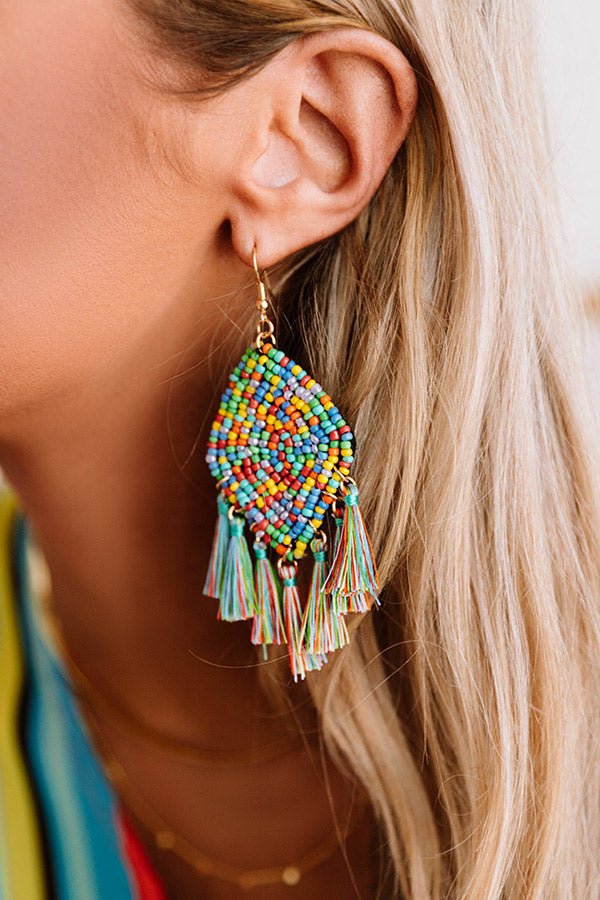 Message In A Bottle Tassel Earrings In Multi