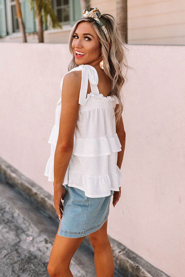 Amalfi Bound Ruffle Shift Tank