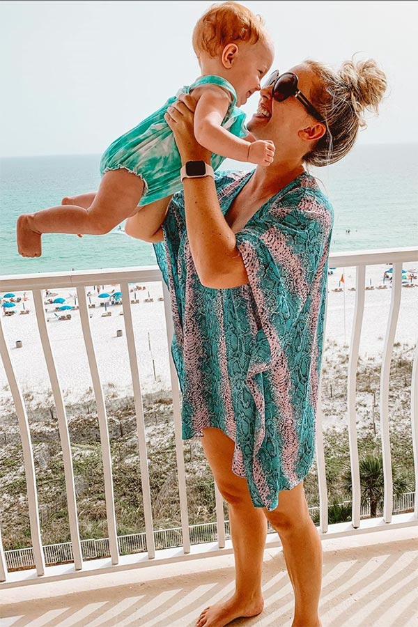 Love In Napa Snake Print Shift Tunic in Teal