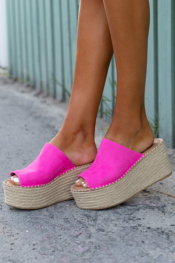The Cameron Espadrille In Hot Pink
