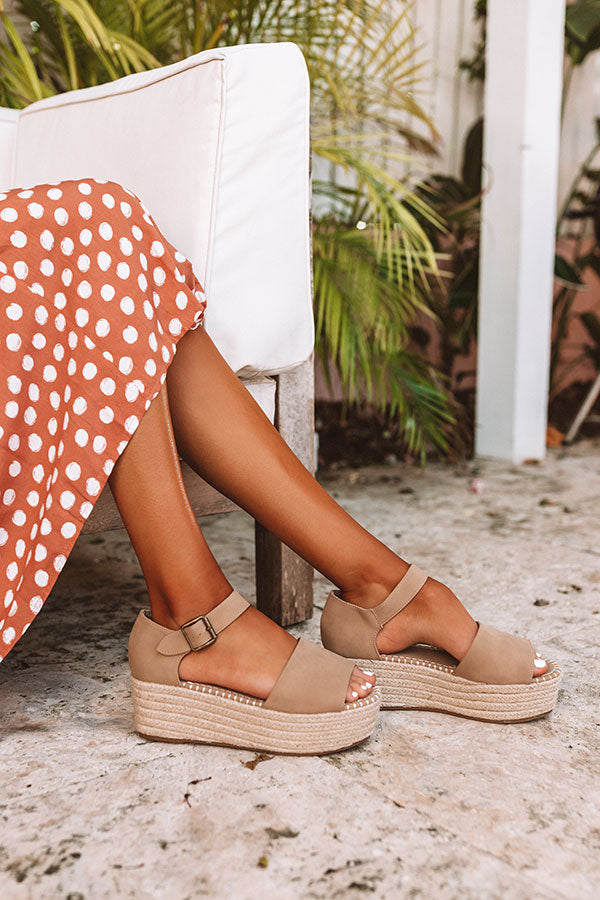 The Brighton Beach Espadrille In Khaki