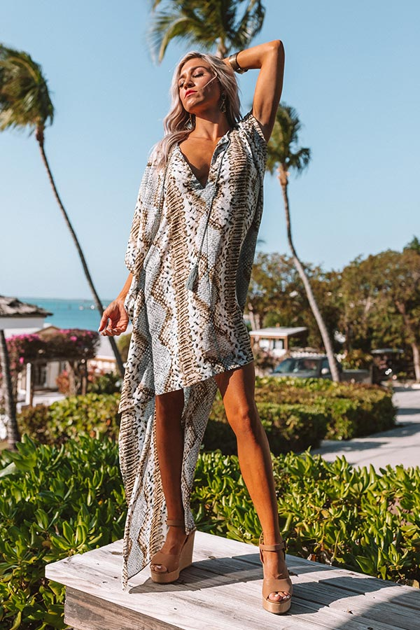 Gorgeous Grand Entrance Snake Print Dress in Grey