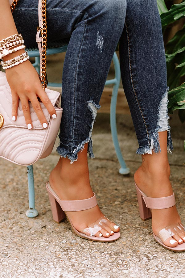 The Everly Patent Heel In Blush