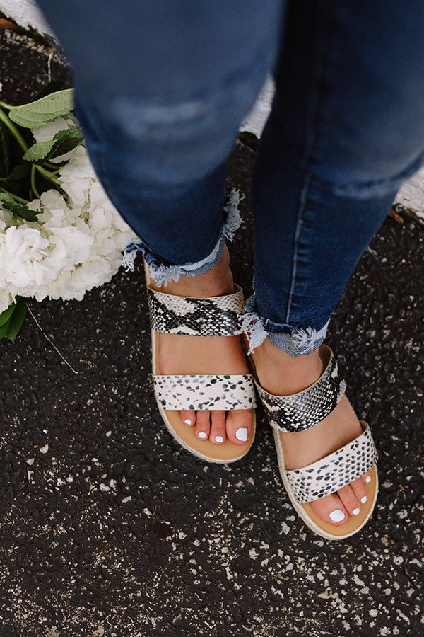The Avonlea Espadrille In Snake Print
