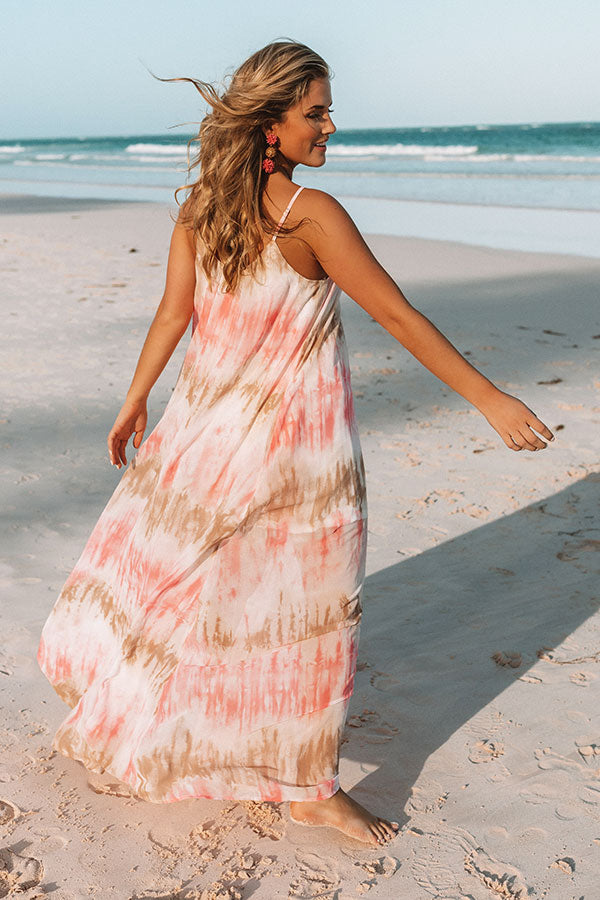 Sippin' At Sunset Watercolor Maxi in Calypso