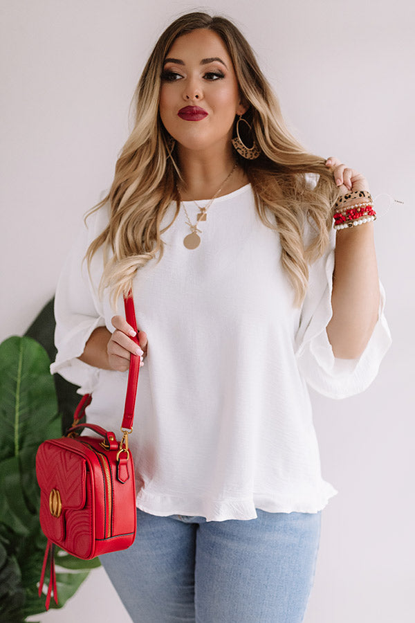Grand Central Getaway Shift Top In White