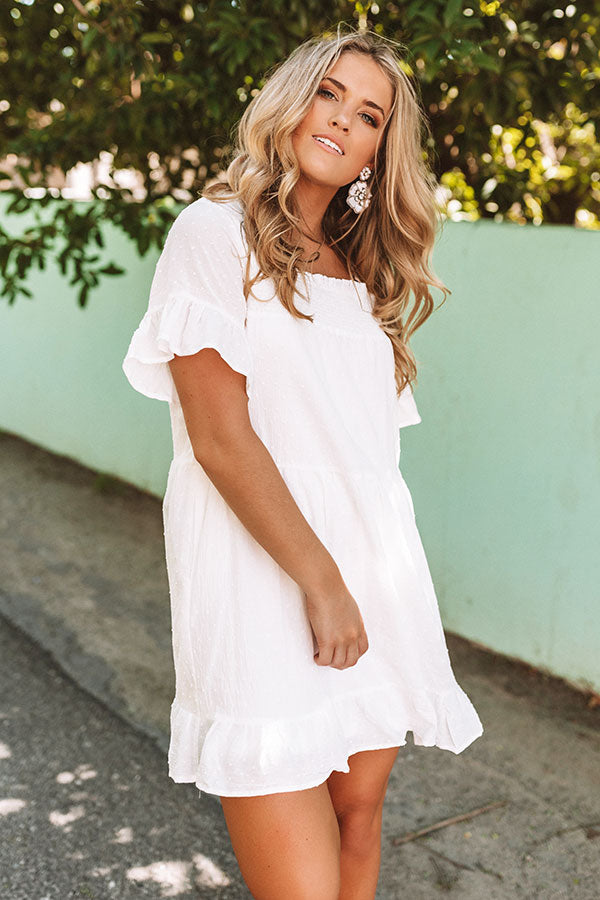 Beyond Bali Shift Dress in White