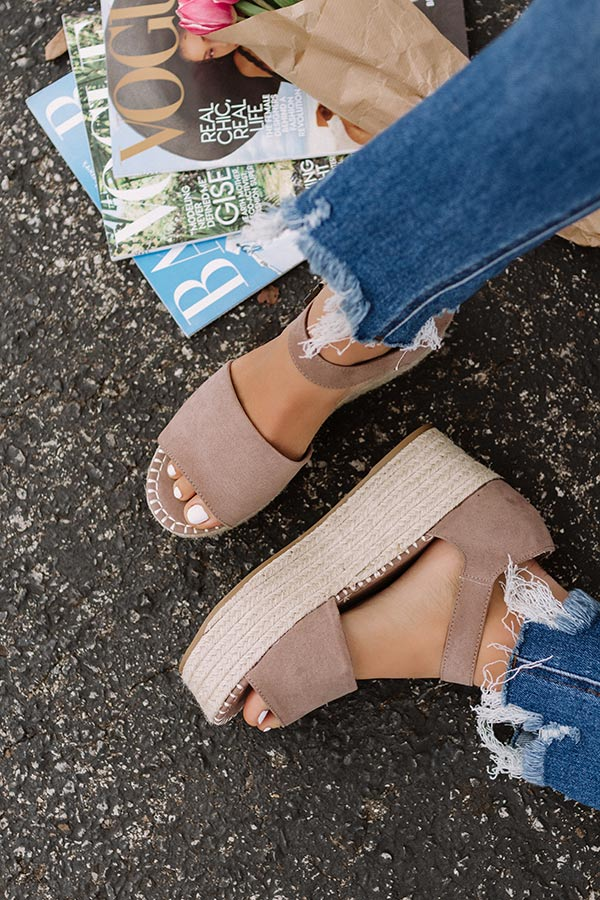 The Brighton Beach Espadrille In Taupe