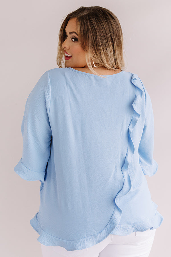 Grand Central Getaway Shift Top In Sky Blue