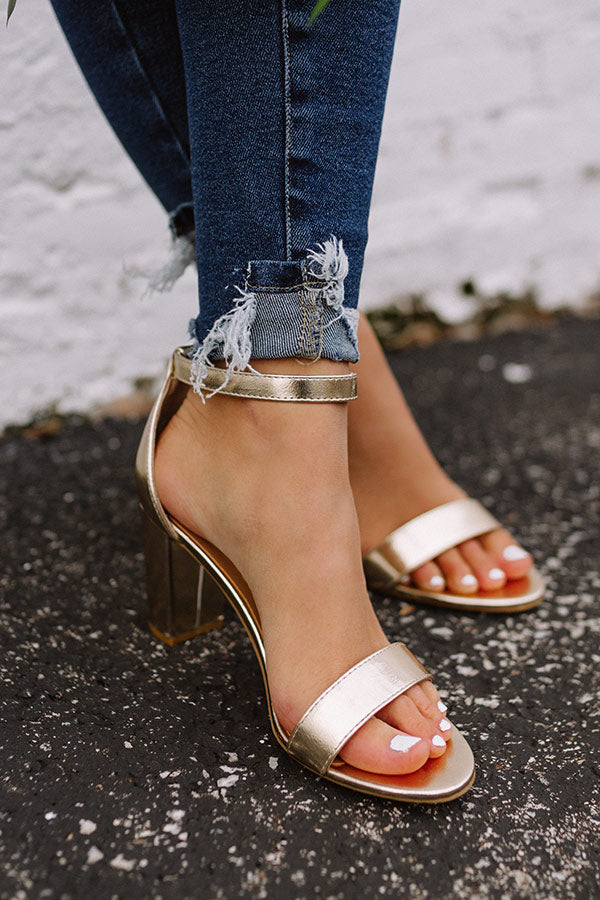 The Carolina Heel In Gold