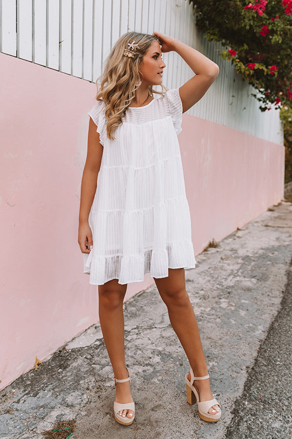 Sunshine Suite Shift Dress in White