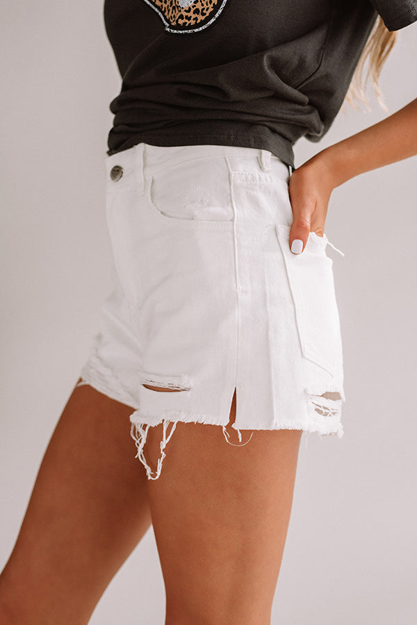 The Whitney High Waist Distressed Shorts