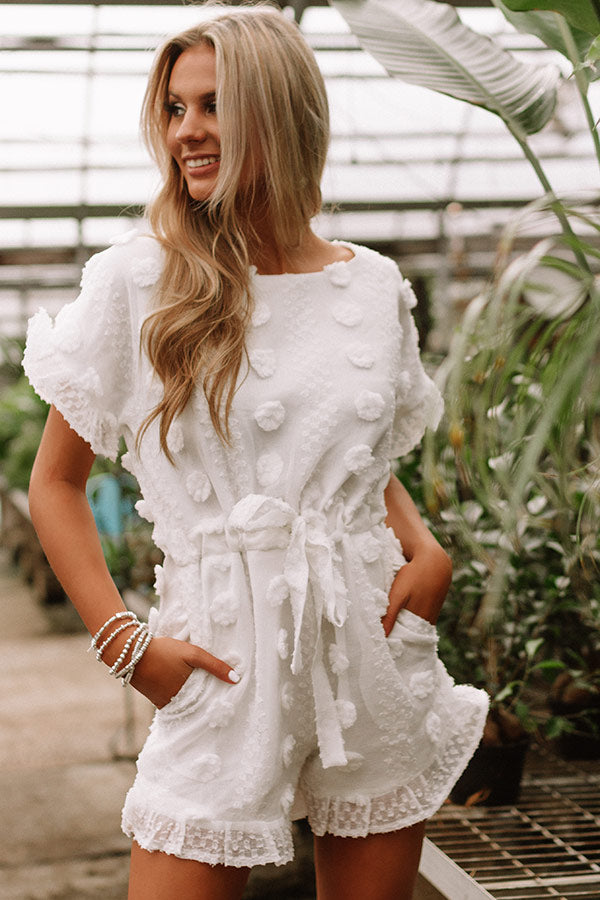 High Expectations Romper in White