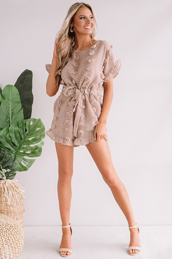 High Expectations Romper in Mocha