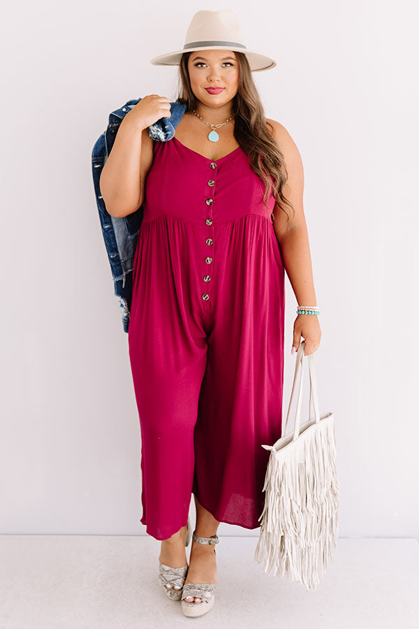 Styled For Paradise Jumpsuit In Berry