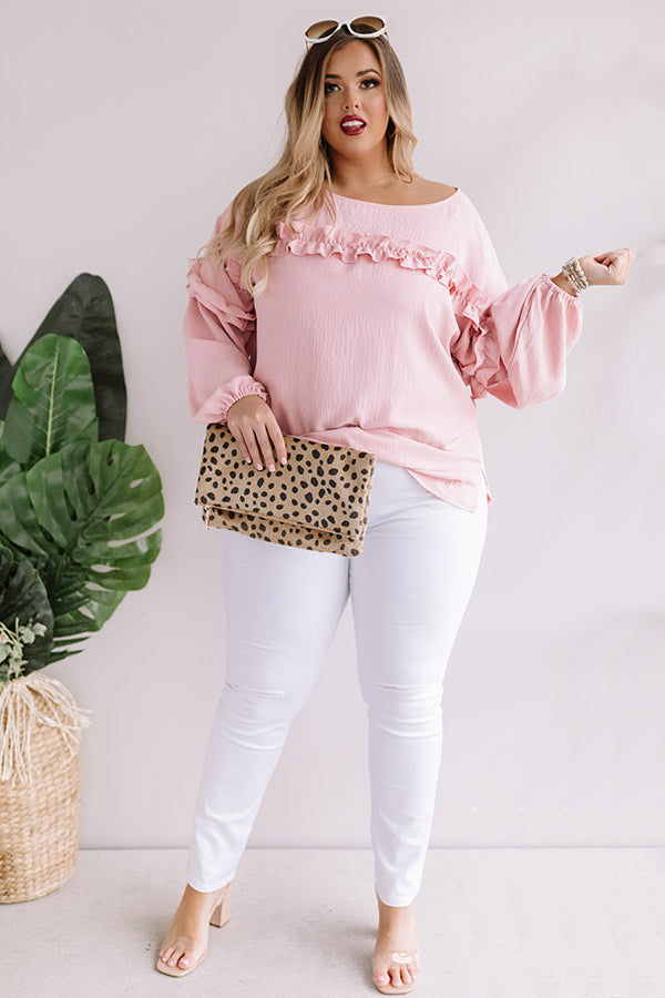 Now Or Never Shift Top In Pink