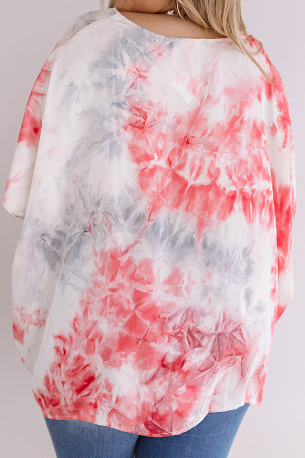 Upbeat Babe Watercolor Shift Top