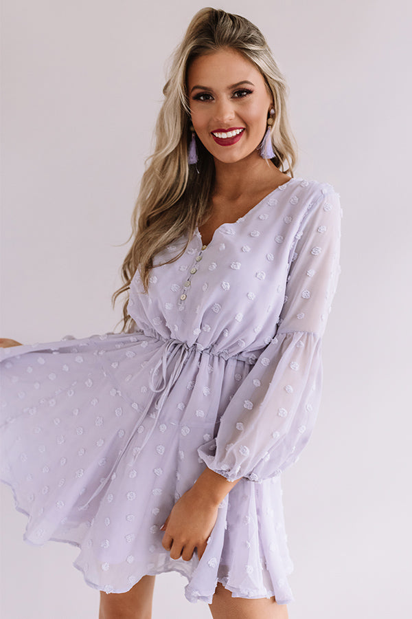 Dreaming Of Paris Shift Dress In Lavender