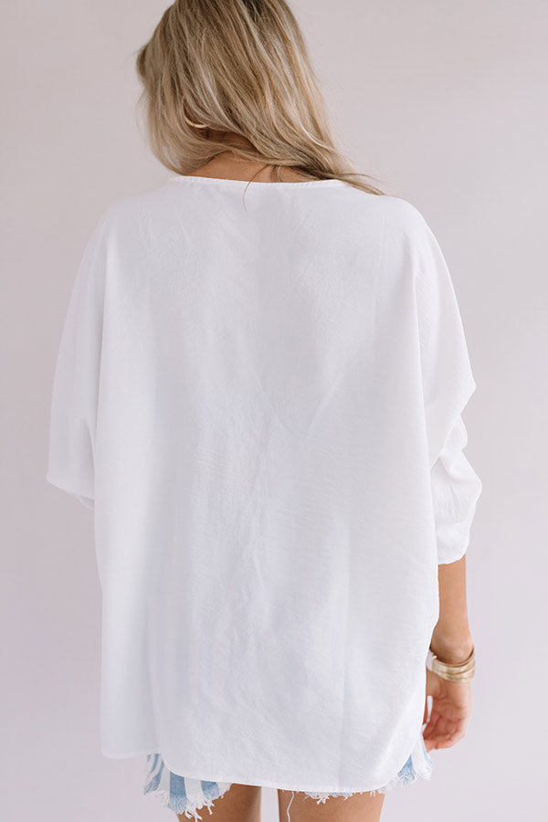 City Sleek Shift Top in White