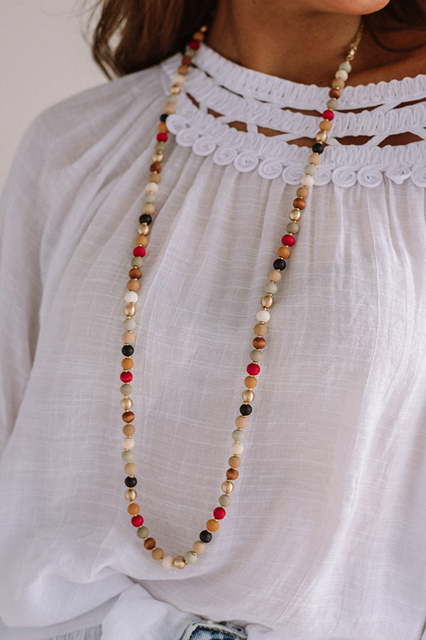 Jetting to Bali Beaded Necklace in Multi