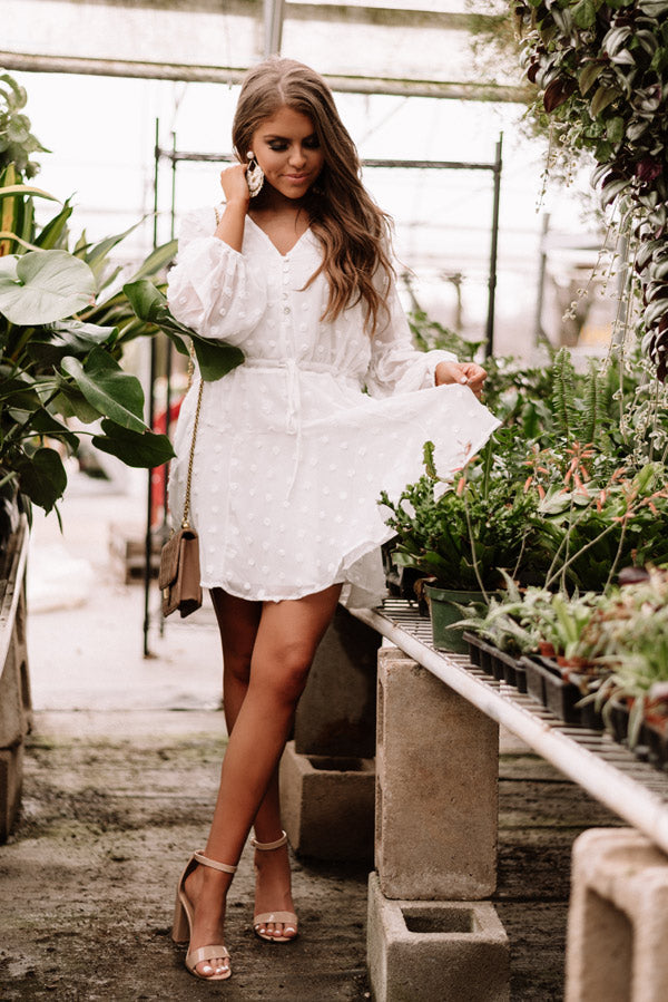 Dreaming Of Paris Shift Dress In White