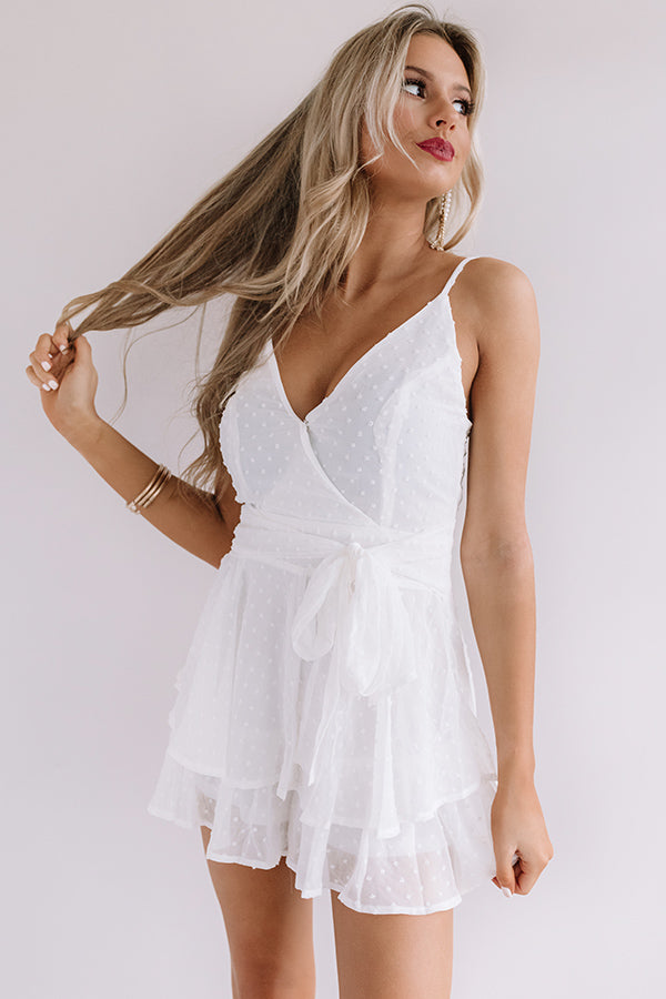 Bali Beautiful Front Tie Romper In White