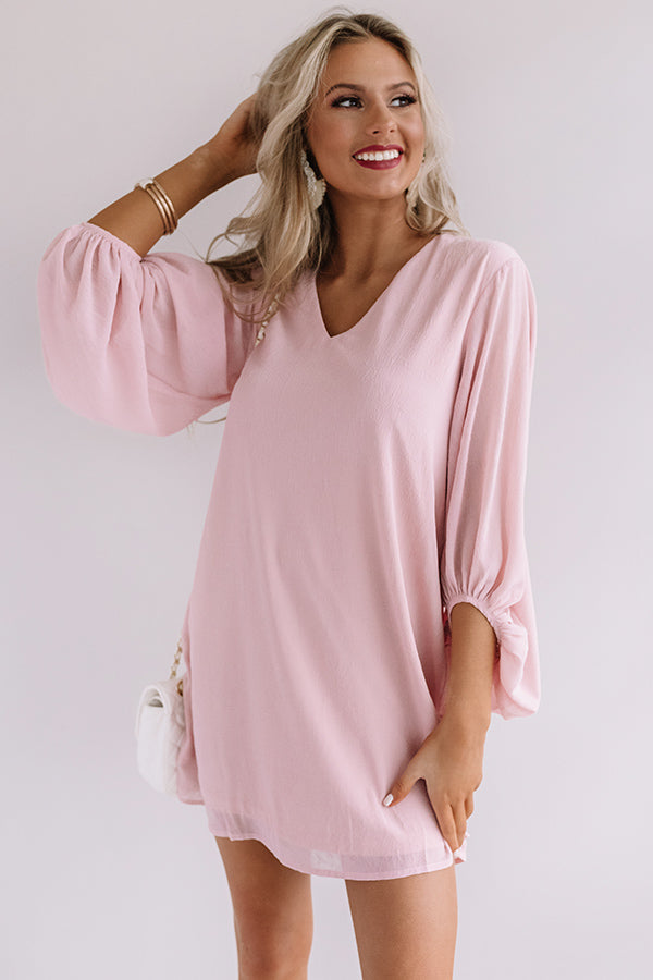 Date Night Out Shift Dress In Blush