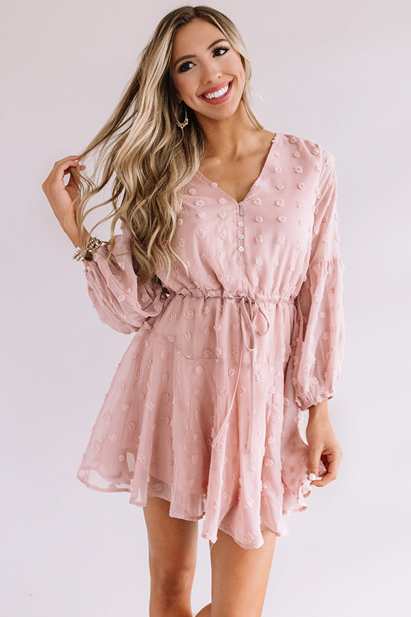 Dreaming Of Paris Shift Dress In Blush