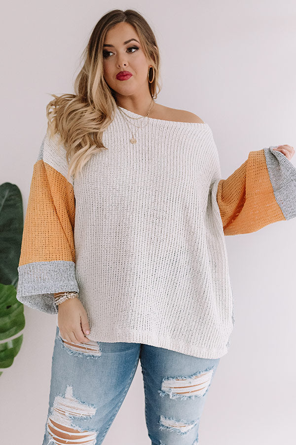 Calm And Carefree Colorblock Knit Sweater