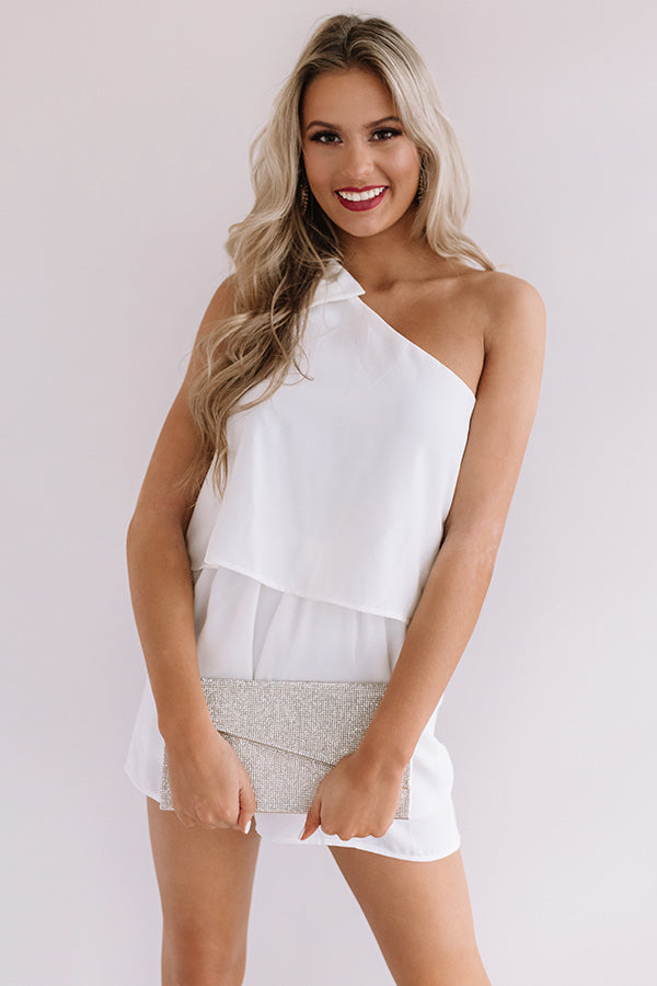 Haute In Here Romper In White